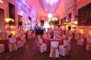 Ballroom Orange & Cream Theme with Lighting