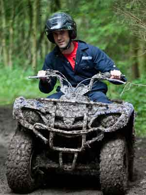 quad biking at Hopetoun