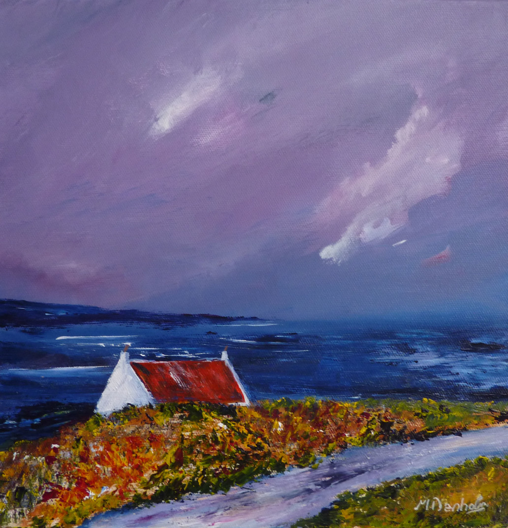 Red Roof By The Sea