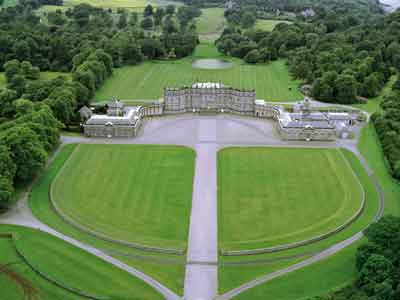 Aerial image of Hopetoun House